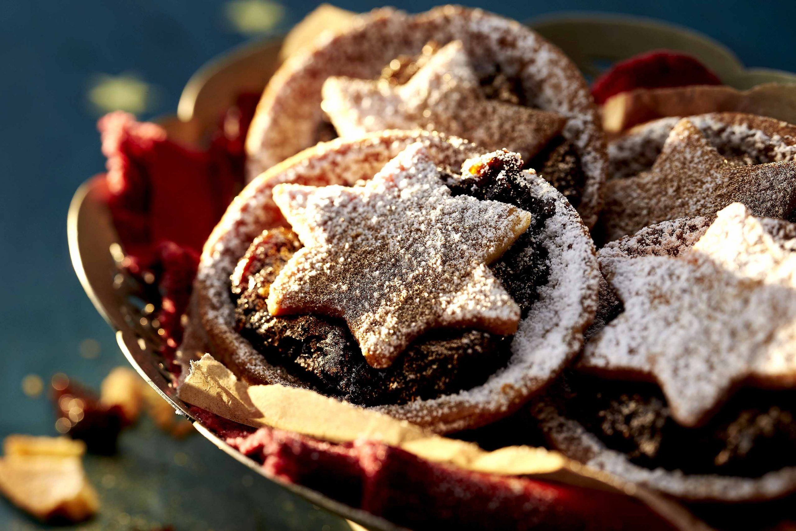 Christmas mince tarts and cocktails